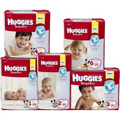 Baby Diaper Huggies Snug & Dry TabClosure Size2 Disposable Hvy Absorb Pack38