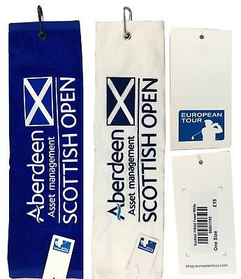 European Tour Scottish Open Official Tri Fold Golf Towel - RRP£15 Scotland Flag