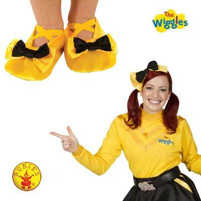 Emma Wiggles Costume Shoe Yellow W/ Ballet Flats Bow Slipper Toddler Child Girl