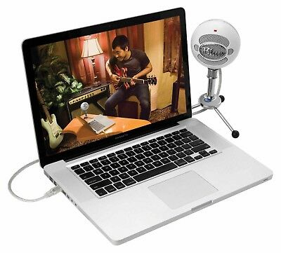 Latest Blue Snowball USB Cardioid White Microphone with Adjustable Mic Stand