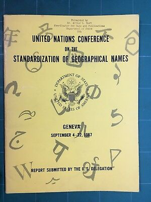 United Nations Conference Standardization of Geographical Names 1967 USA Geneva