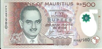 Mauritius  500 Rupees  2016  - polymer