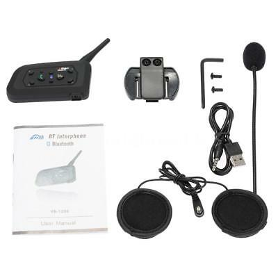 BT Bluetooth Motorrad Helm Interphone Intercom Headset V6 1200M 6 Fahrer J6B9