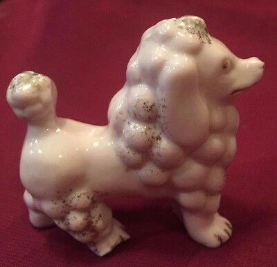 Vintage Miniature Ceramic Pink Poodle 2 /12 x 2 1/4 Inches