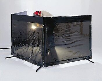 Singer Safety Transparent Gray Portable Welding Safety Screen, 6'W X 6'H