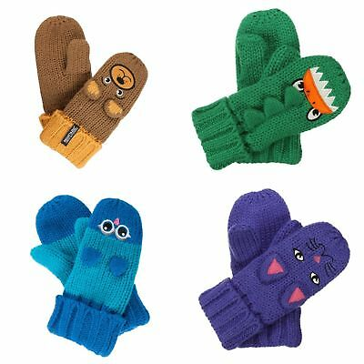 Regatta Great Outdoors Childrens/Kids Animally II Winter Mittens (RG2243)