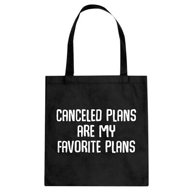 Tote Canceled Plans Canvas Shopping Bag #3059