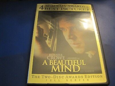 A Beautiful Mind (Full Screen 2 DISC  Awards Edition)  FREE US SHIPPING