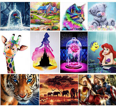 UK 5D Diamond DIY Painting Animals Embroidery Cross Crafts Stitch Kit DIY Decors