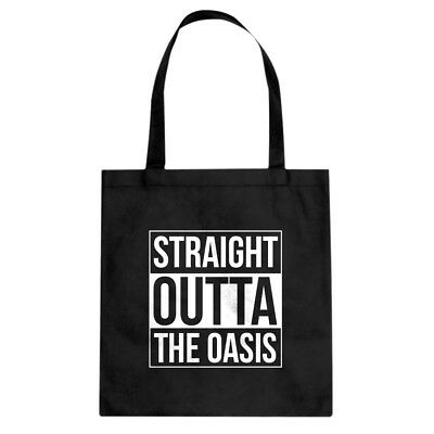 Tote Straight Outta the Oasis Canvas Shopping Bag #3364