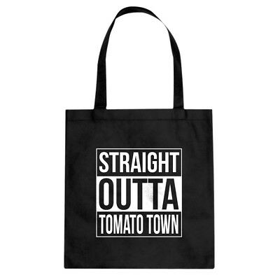 Tote Straight Outta Tomato Town Canvas Shopping Bag #3339