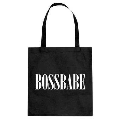 Tote BossBabe Canvas Shopping Bag #3495