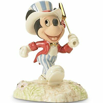 Lenox Disney All American Mickey Mouse 4th of July Figurine New in Box COA