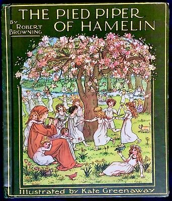 PIED PIPER OF HAMELIN By Browning/Greenaway ~Vintage Children's Story Book Warne