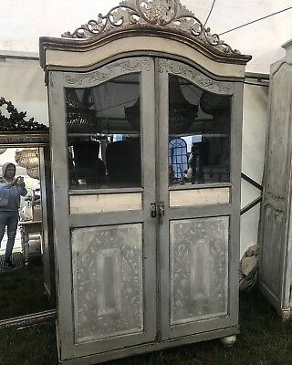 RARE- Stunning Antique French/Italian Armoire, Painted, Original,