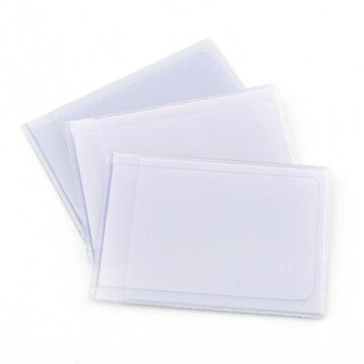 Plastic Credit Card Inserts Replacements Sleeves Landscape *** PACK OF 3 ***