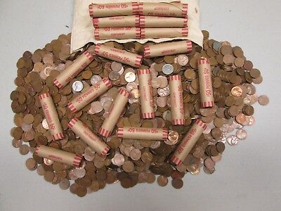 unsearched wheat pennies rolls