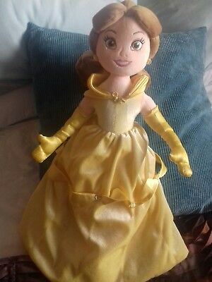 """Disney Store Exclusive Belle Princess Large Soft Plush Toy Doll 22"""" Tall stamped"""