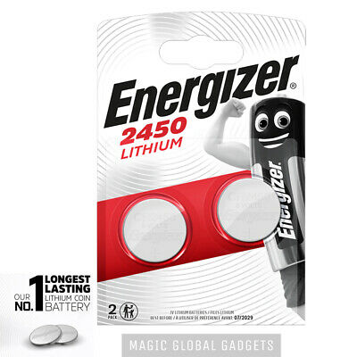 Genuine Energizer 2 X Cr2450 3V Lithium Coin Cell Battery 2450 Dl2450