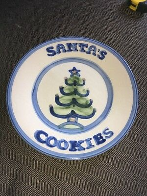 "COOKIES FOR SANTA  8 3/4"" Plate M.A. HADLEY"