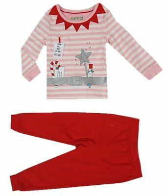 New Girls ex M&S Fairy Candy Cane Christmas Pyjamas 18 Months-8 Years