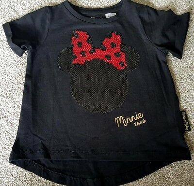 New Baby Girls Minnie Mouse T Shirt Top 12-18, 18-24 Months