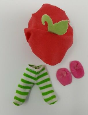 Strawberry Shortcake Vintage Cherry Cuddler Hat Shoes and Tights No Doll