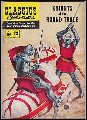 Vintage British Classics Illustrated:KNIGHTS OF THE ROUND TABLE/PYLE No. 108 1/3