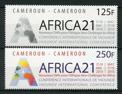 Cameroon Cameroun 2010 MNH Africa Africa21 Yaounde Intl Conference 2v Set Stamps