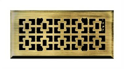 "Ta Industries Floor Register Victorian 4 "" X 12 "" Antique Brass"