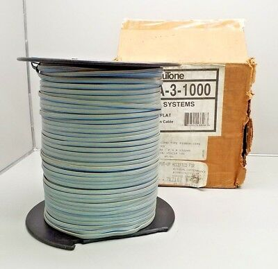 New Nutone Iwa-3-1000 1000Ft 3 Conductor Flat Ribbon Installation Cable