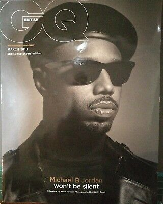 British GQ Magazine - March 2018 (Michael B Jordan, Black Panther) Subscriber Ed