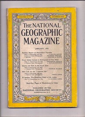 national geographic-JAN 1950-PEERLESS NEPAL-A NATURALIST'S PARADISE.
