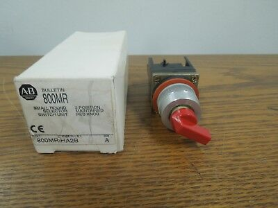Allen Bradley 800MR-HA2B Small Round 2 Position Selector Switch Maintained New