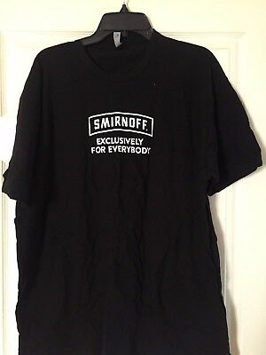 Smirnoff Exclusively For Everybody T-shirt Black Men's XXL Brand New Collectible