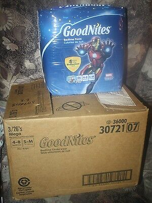 156 Goodnites Boys Disposable Bedtime Underwear S - M Pullups