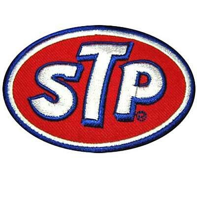 Red STP Oil Gas Motorcycle Racing Nascar Motor gp Iron on Jacket Shirt Patch