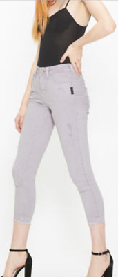 7e0a50d0 NEW Silver Jean Co. AVERY SKINNY CROP COLOR WASH NWT Size 27 and Size 31