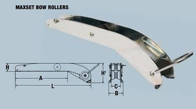 MAXWELL MAXSET bow roller polished for MAXSET 4kg & 6kg anchors
