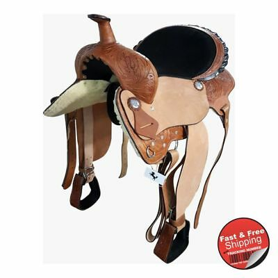 Barrel Racing / Pleasure Leather Western Saddle