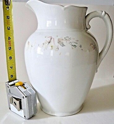Ironstone Pitcher Vintage 19th Century SMITH & FORD England (est.122 years old)
