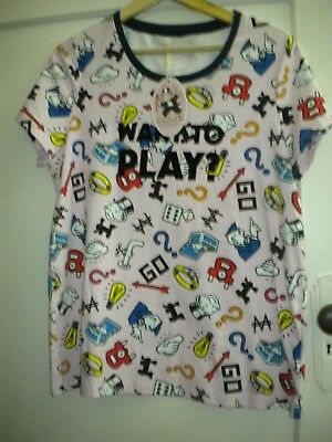 Ladies New With Tag Peter Alexander Monopoly Top Size L