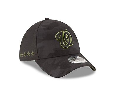 cheap for discount cbcd4 7aac1 Washington Nationals New Era 2018 Memorial Day 39THIRTY Flex Hat – Black