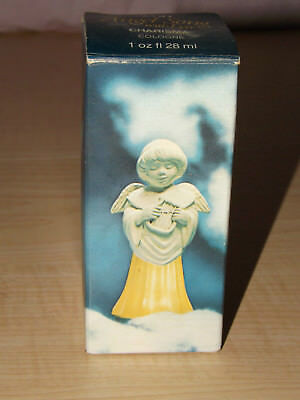 Angel Song with lyre Heres my heart cologne Avon boxed full decanter bottle