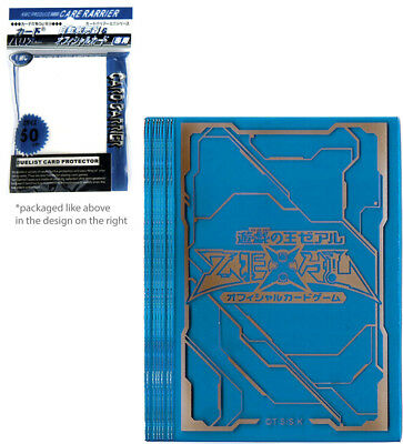 50 ct Translucent Navy Blue Yugioh Logo Card Sleeves KMC Plastic Deck Protector