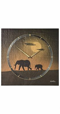Modern wall clock with quartz movement from AMS AM W9523 NEW