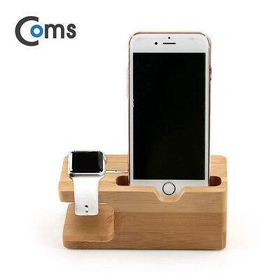 Coms Stand for Apple Watch iPhone Wood Dock Station Holder 135 x 62 x 54mm 134g