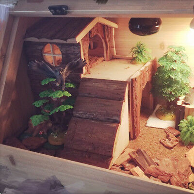 Two House Story Wooden Exquisite For Hamster Cage For Chinchilla Small Animal