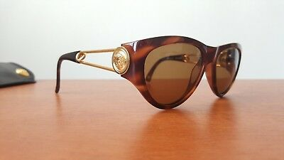 AUTHENTIC GIANNI VERSACE Medusa Mod 427 Col 900 Safety Pin Vintage  Sunglasses