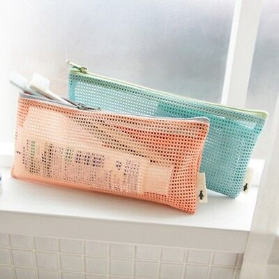 Travel Nylon Mesh Zipper Wallet Case Makeup Wash Bag Tool Portable Storage Pouch